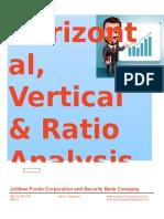 Vertical Horizontal Analysis
