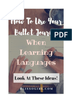 How To Use Your Bullet Journal When Learning a Language