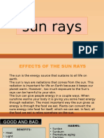 effect of sunrays in the skin