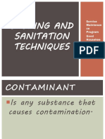 Storing and Sanitation Techniques
