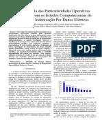 A relevância das particularidades operativas associadas com os estudos computacionais de pedidos de indenização por danos elétricos
