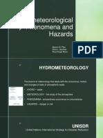Hydrometeorological Phenomenon and Hazards
