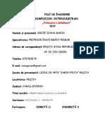 SIMPOZION PRIMAVARA-N SARBATOARE, editia a IV -a 2019 - FISA INSCRIERE -GROZE IOANA.doc