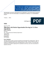 High Hops With Market Opportunities Brewing for U.S. Beer Ingredient_New Delhi_India_4!18!2018