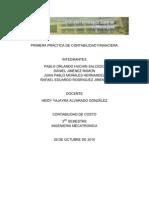 PRIMERA PRÁCTICA DE CONTABILIDAD FINANCIERA