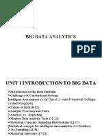 BIG Data Analysis Unit I Final