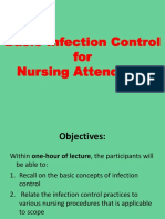 Infection control lecture for Nursing Attendants