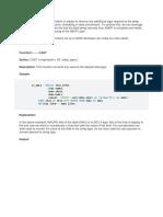 Sap Hana Abap Sqlscript Functions
