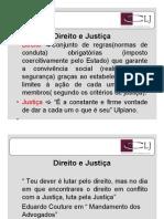 Slide DIREITO E JUSTIÇA - IED 1 (CLJ)