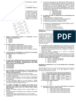 Evaluación de Biología Grado Acidos Nucleicos y Replicacion