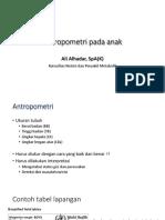Pengukuran Antropometri Dr Ali - Aceh Utara