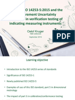 T208 Measurement Uncertainty Associated in Verification Testing of Indicating Measuring Instruments