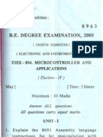 May-8963-VIII Sem Micro Controller and Application
