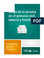 Carga de La Prueba en El Proceso Civil, Laboral y Familiar