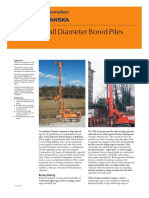 Small Dia Bore piles