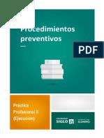 Procedimientos preventivos