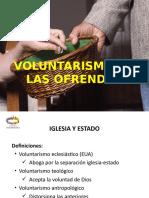 Voluntarismo en las Ofrendas