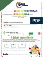 Intervençao Pedagógica 4º Ano Fabiana Corrigida