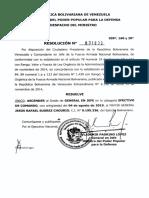 El régimen de Maduro asciende de grado a Jesús Suárez Chourio (COMUNICADO)