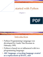 1 Getting Started With Python-1