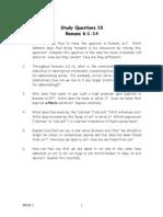 Study Questions 10 Romans 6.1-14