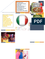Folleto Word comida italiana