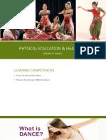 p.e 12 Nature of Dances