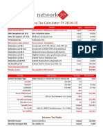 Income Tax Calculator FY 2014 15