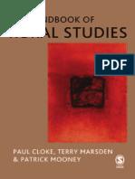 The Handbook of Rural Studies