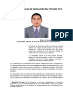 FORMAS ESPECIALES DE CONCLUSIÓN DEL PROCESO CIVIL. AUTOR. JANNER A. LOPEZ AVENDAÑO.