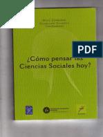 ¿Cómo pensar las ciencias sociales hoy?