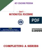 Mathematical Reasoning - Thiyagu