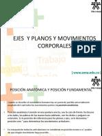 Ejes y Planos de Movimientos Acc