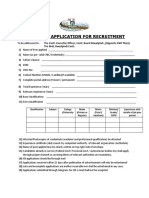 Format for Recuitment Applications