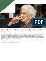 A 98 Ans, Elle Sort Et Boit 20 Bières Par Jour… Avec l'Accord de Son Médecin _ Gourmandiz.be