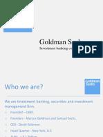 About Goldman Sachs