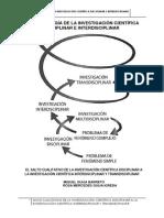 Metodología de la investigación científica.salto cualitativo  de la investigación disciplinar a la investigación multidisciplinar, interdisciplinar y transdisciplinar.