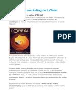 La Stratégie Marketing de L'Oréal