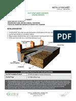 Duct Wrap - Under Concrete