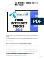 Telenor Free Internet Tricks 2019 (100% Working 7 Methods)