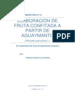 Informe de Aguaymanto Confitado