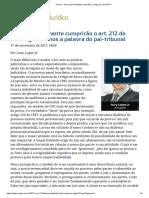 ConJur - Será Que Finalmente Cumprirão o Artigo212 Do CPP