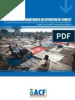 Principes Humanitaires en Situation de Conflit Fr