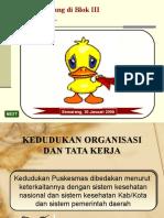 Kedudukan Organisasi