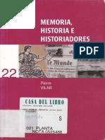 Memoria, historia e historiadores