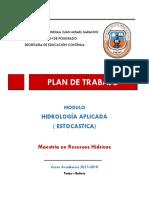 Plan de Trabajo Hidrología Aplicada-2