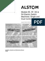 Models 5E, 5F, 5G &Amp; 5H Electric Switch Machines_ Single ... - Alstom