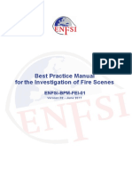 Enfsi Best Practice Manual for the Investigation of fire scenes