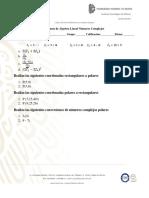 Examen de números complejos