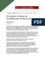 Os Perigos Do Plano de Flexibilização Do Mercosul